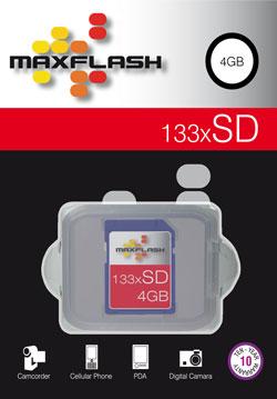 Cartão Memória SD 4GB 133x Maxflash