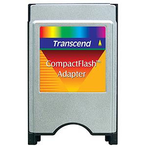 Adaptador TRANSCEND de CompactFlash CF para PCMCIA - TS0MCF2PC