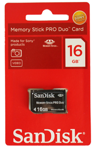 Memory Stick Pro Duo com Magic Gate 16GB Sandisk