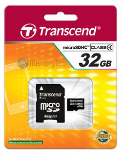 Cartão de Memória Micro Sdhc 32GB Transcend - Classe 4