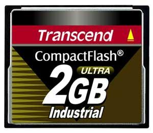 Cartão de memória CompactFlash CF Transcend 2GB TS2GCF100I 100x Industrial