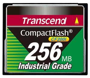 Cartão de memória CompactFlash CF Transcend 256MB TS256MCF200I 200x Industrial Grade