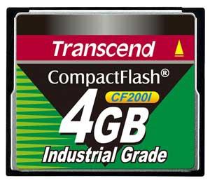 Cartão de memória CompactFlash CF Transcend 4GB TS4GCF200I 200x Industrial Grade