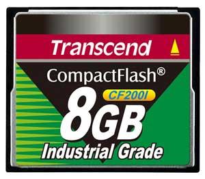 Cartão de memória CompactFlash CF Transcend 8GB TS8GCF200I 200x Industrial Grade