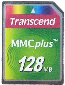 Cartão de Memória MMC Plus Transcend 128MB