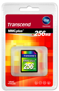 Cartao de Memoria MMC Plus Transcend 256MB