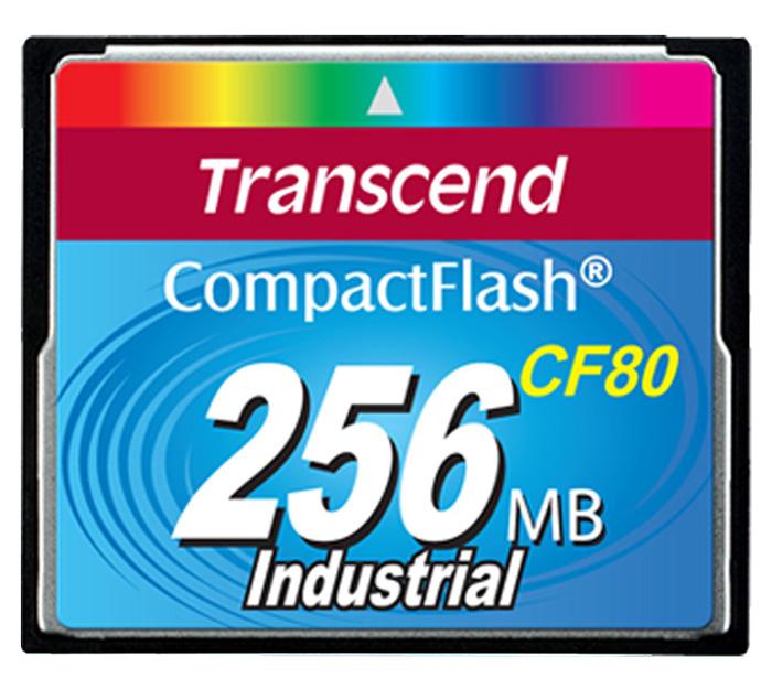 Cartão de memória CompactFlash CF Transcend 256MB 80x Industrial TS256MCF80