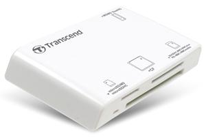 Leitor de cartão USB Transcend P8 para SDHC, SDXC, SD, CompactFlash, CF, microSDHC, microSD, MemoryStick Pro duo, MMC