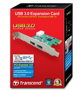 Placa de Expansão USB 3.0 Transcend PDU3
