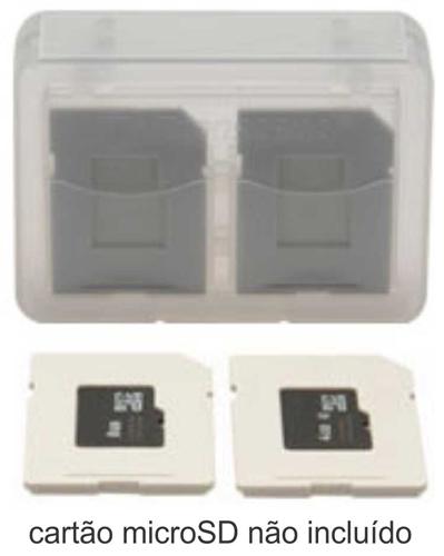 Case para cartão de memória SD SDHC e MicroSD MicroSDHC - 8 unidades