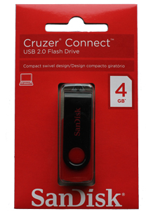 Pen Drive Sandisk 4GB Cruzer Connect