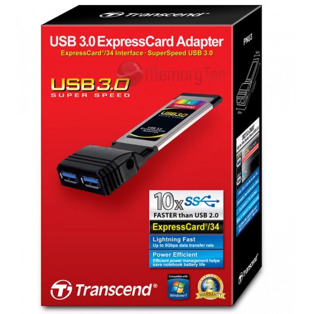 ExpressCard Adaptador USB3.0 PNU3