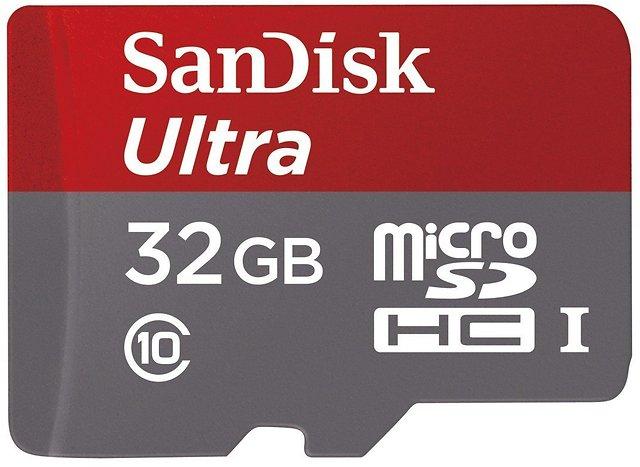 Cartão de memória MicroSDHC 32GB Sandisk Ultra Classe 10 80MB/s