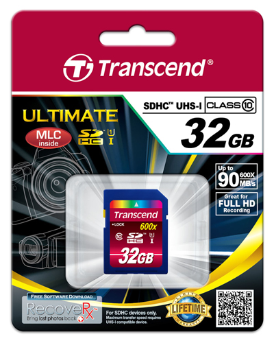 Cartão de Memória SDHC 32GB Transcend Classe 10 UHS-1 - 90MB/s 600x