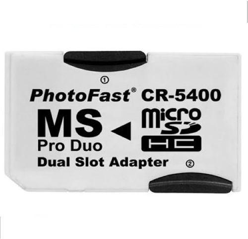 Adaptador de MicroSDHC para MemoryStick Pro Duo PhotoFast CR-5400