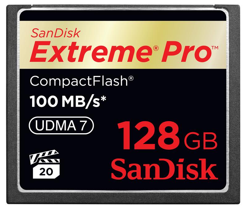 Cartão de Memória CompactFlash CF Sandisk 128GB Extreme Pro 600x