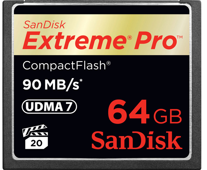 Cartão de Memória Compact Flash CF Sandisk 64GB Extreme Pro 600x