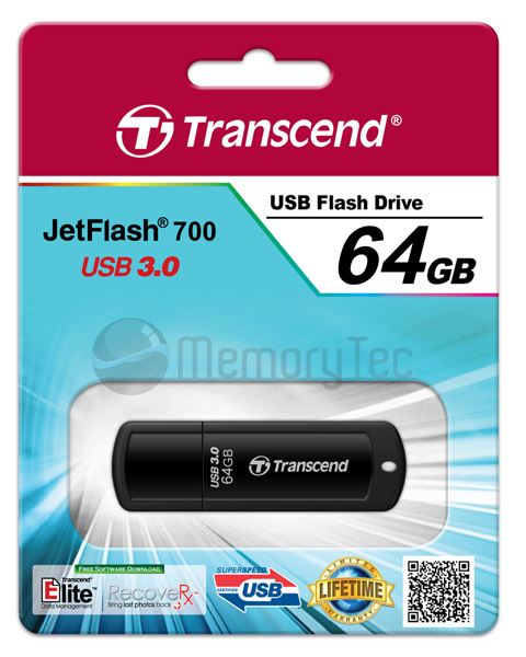 Pen Drive Transcend 64GB JetFlash 700 USB 3.0