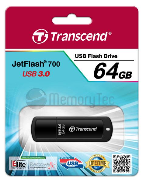 Pen Drive Transcend 64GB JetFlash 700 USB 3.0