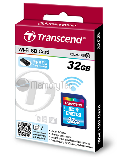 Cartão de Memória Wi-Fi SDHC Transcend 32GB Classe 10
