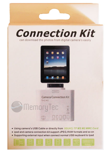 Adaptador de Cartões de Memória para iPad 5 em 1