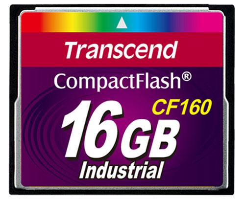Cartão de memória Compact Flash CF Transcend 16GB 160X Industrial