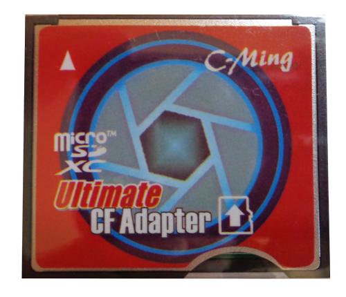 Adaptador C-Ming de MicroSDHC e MicroSDXC para Compact Flash