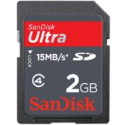 Cartao Memoria SD 2GB Sandisk Ultra
