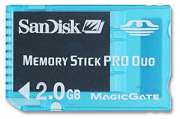 Memory Stick Pro Duo Gaming com Magic Gate 2GB Sandisk