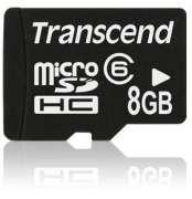 Cartão Memória Micro SDHC 8GB Transcend Class 6 com Adaptador SD