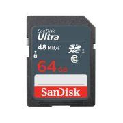 Cartão Memória SDXC Sandisk 64GB Ultra classe 10
