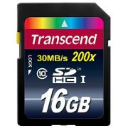 Cartao de Memoria SDHC 16GB Transcend - Class 10