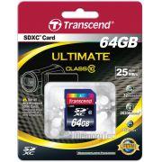Cartao de Memoria Transcend 64GB SDXC classe 10