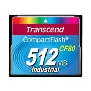Cartão de memória CompactFlash CF Transcend 512MB 80x Industrial TS512MCF80