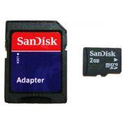 Cartão Memória Micro SDHC 2GB Sandisk com adaptador sem emb