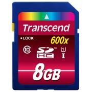 Cartão de Memória SDHC 8GB Transcend Classe 10 UHS-1- 90MB/s 600x
