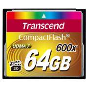 Cartão de Memória Compact Flash CF Transcend 64GB 600x