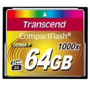 Cartão de Memória Compact Flash CF Transcend 64GB 1000x