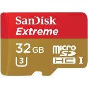 Cartão de memória MicroSDHC SanDisk 32GB Extreme Classe 10 UHS-I U3 90MB/s 4k
