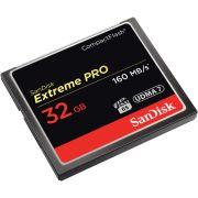 Cartão de Memória Compact Flash CF 32GB Sandisk Extreme Pro 160MB/s
