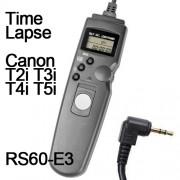 Cabo Disparador Remoto Time Lapse para Canon RS-60E3 TC1001