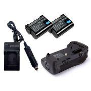 Kit Battery Grip MB-D12 para Nikon D800, D810 + 2 Baterias EN-EL15 + Carregador