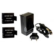 Kit 2 Baterias SJ4000 SJ5000 M10 B + carregador para SJCAM Gitup Git 1 Git 2