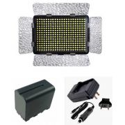 Kit Iluminador Profissional LED-330B + Bateria NP-F950 + Carregador NP-FM50