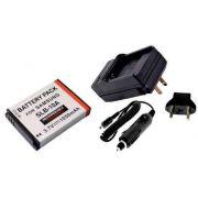 Kit Bateria + Carregador SLB-10A para Samsung ES60, HZ10W, L100, L301, M110, NV9, P1000, SL202, TL9, WB500
