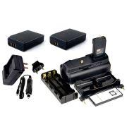 Kit Battery Grip 1100DH + 2 baterias LP-E10 + Carregador para Canon EOS Rebel T3