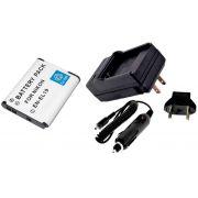 Kit Bateria EN-EL19 + carregador para câmera digital e filmadora Nikon Coolpix S100, 3100, 4100, S-3300, S4300