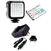 Kit Iluminador de LED Profissional LED-VL009 + Bateria Li-40B + Carregador