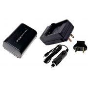 Kit Bateria NP-FV50 + Carregador para Sony HDR-XR160E, HDR-PJ50VE, DCR-SR77E, DCR-HC85E