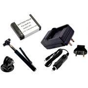 Kit 1 Bateria + carregador AHDBT-001 para Go Pro 1 e 2 + bastão selfie